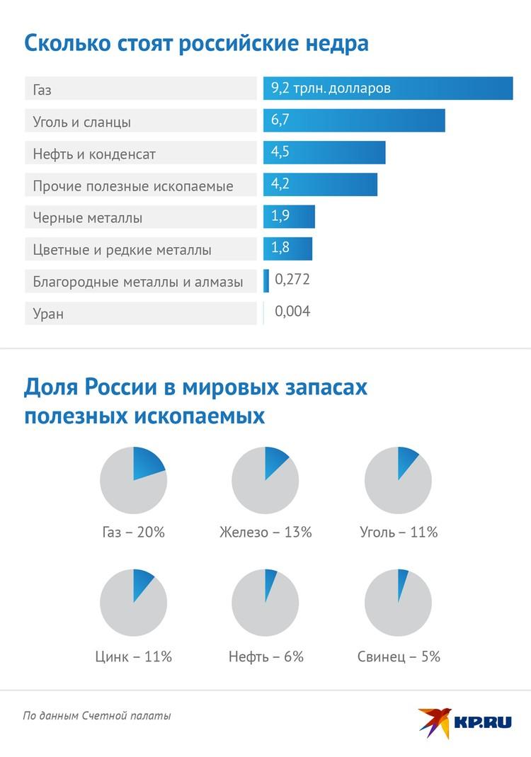 Сколько стоят российские недра