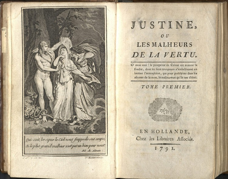 Прижизненное издание романа «Жюстина, или несчастья добродетели», 1791 год