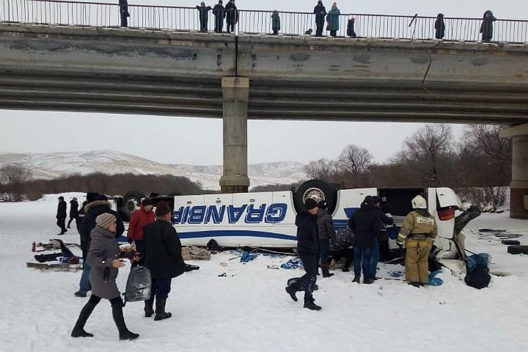 На месте той страшной аварии. Фото: СУ СК России по Забайкалью