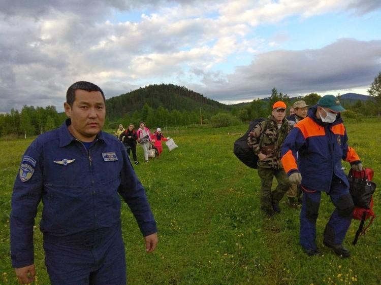 Туристов обнаружили случайно, облетая территорию. Фото: МЧС