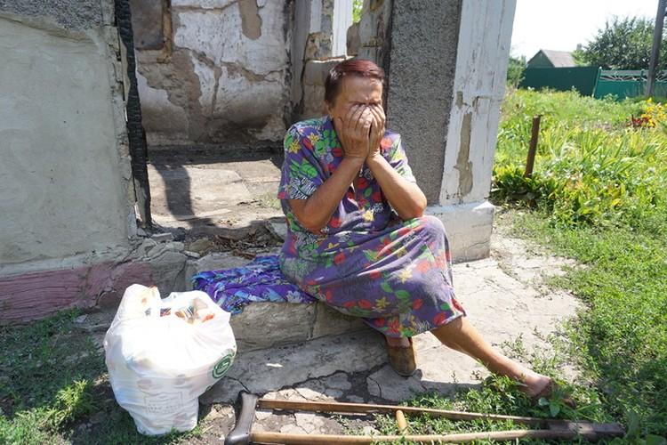 Жительница красной зоны. Для Украины она террористка.