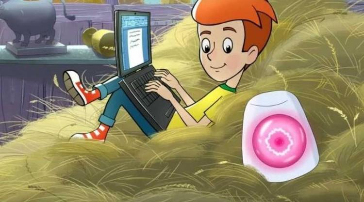 А еще в доме появилась розовая говорящая колонка. Фото: Кадр из мультфильма.