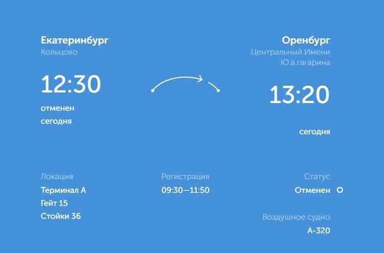 """""""Урал"""" должен был лететь на матч чартерным рейсом. Его также пришлось отменить. Фото: сайт аэропорта Кольцово"""