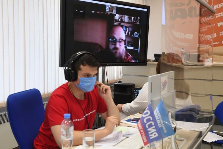 Волонтер Максим Ломаков