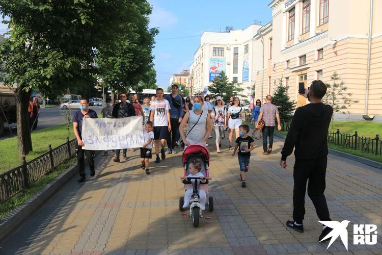 В понедельник на улицы вышло протестовать очень мало людей. Меньше сотни...