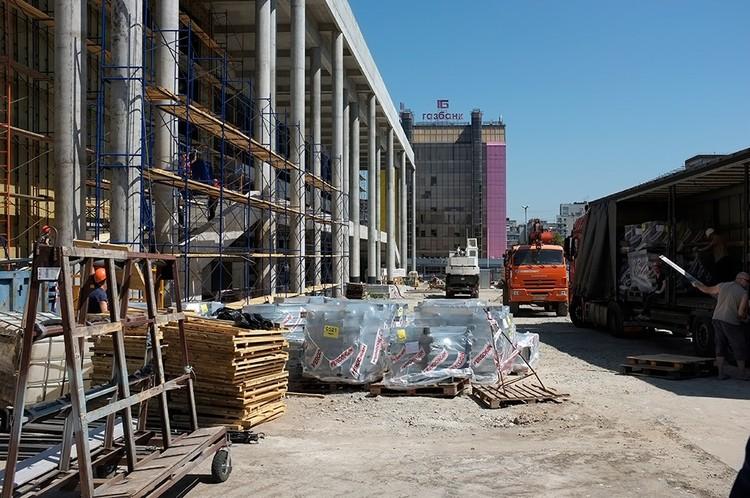 Работы по строительству идут по графику. Фото: Дмитрий Орлов