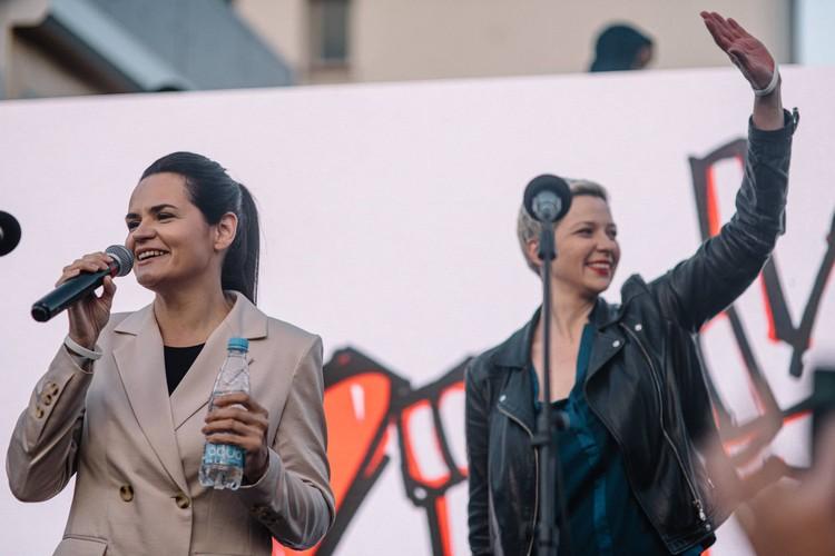 Во время выступления, Тихановская вновь заявила, что планирует, в случае избрания провести честные и открыты перевыборы в течение полугода. Фото сайта babariko.vision.