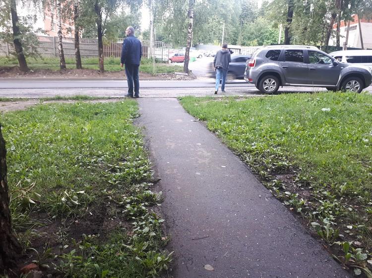 На Шабердинском тракте есть несколько точек, где люди переходят дорогу в неположенном месте.