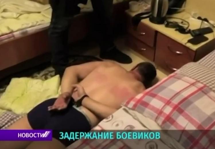 Момент задержания. Кадры из репортажа белорусского ТВ
