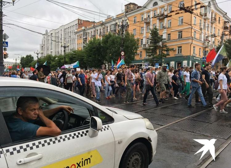 Шествие прошло обычным маршрутом по улицам города