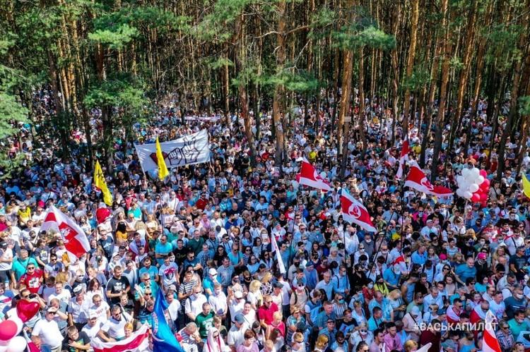 Митинг в Бресте проходил в лесу. Фото: #васькапилот