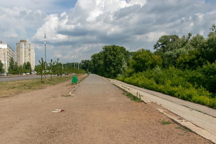 Уфимский тротуар может закончиться в неожиданном месте