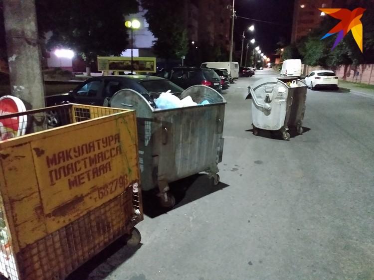 Кто-то выкатил мусорные контейнеры на проезжую часть