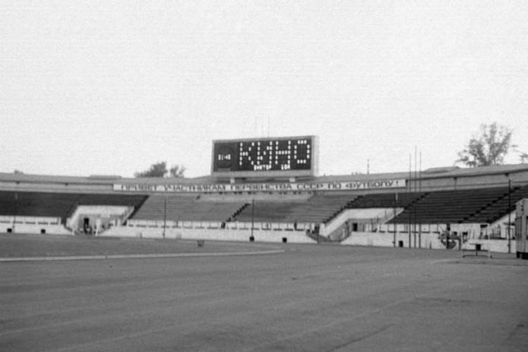 """Табло стадиона """"Труд"""" перед концертом Виктора Цоя. Фото: Константин КУЛИКОВ."""