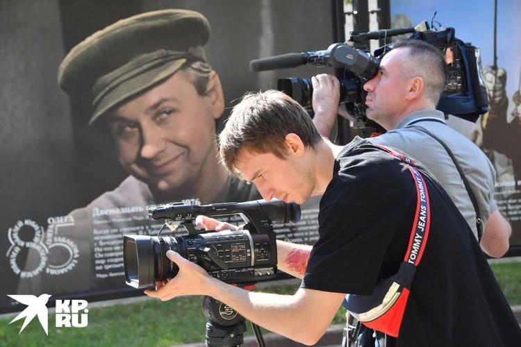 17 августа на Чистопрудном бульваре открылась фотовыставка к 85-летию народного артиста СССР