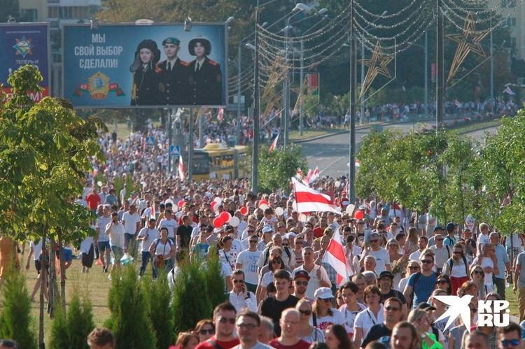 Митинг оппозиции в Минске.