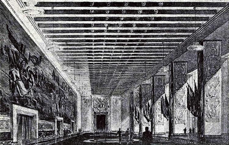 Зал истории Гражданской войны. Эскиз. Фото: techne.com