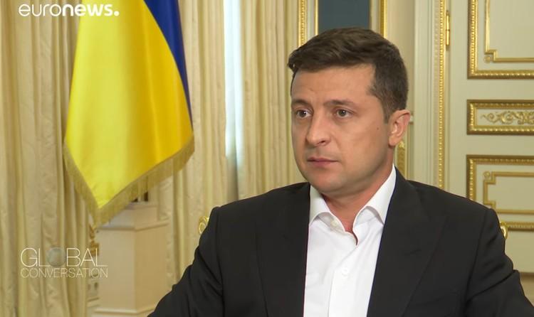 Владимир Зеленский дал интервью телеканалу Euronews.