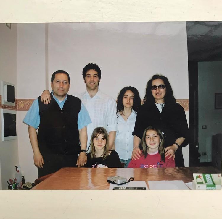 Совместное фото с итальянкой семьей