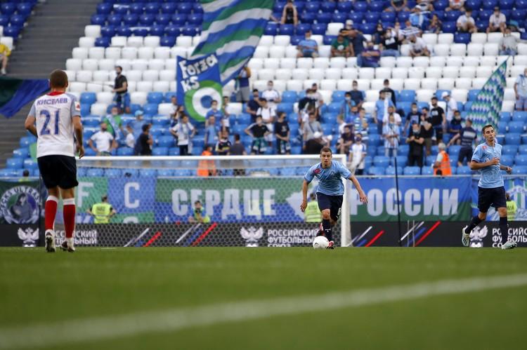 Фанатов «КС» на стадионе в последнее время стало заметно меньше.
