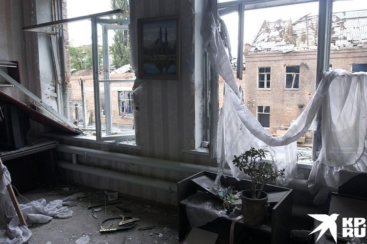В одном из классов школы №1 города Беслана после теракта
