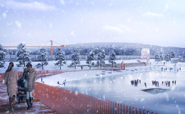 Зимой на набережной можно будет кататься на санях, коньках, лыжах. Фото: администрация Нязепетровска