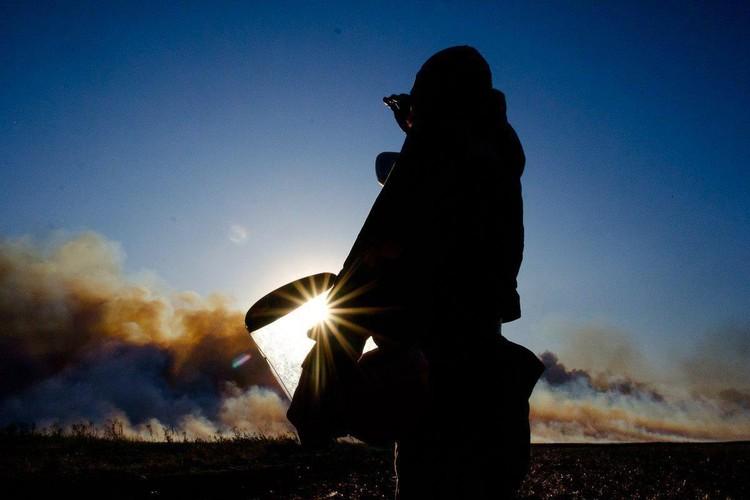 Фото: Кася Кулькова/Добровольные пожарные Кубани