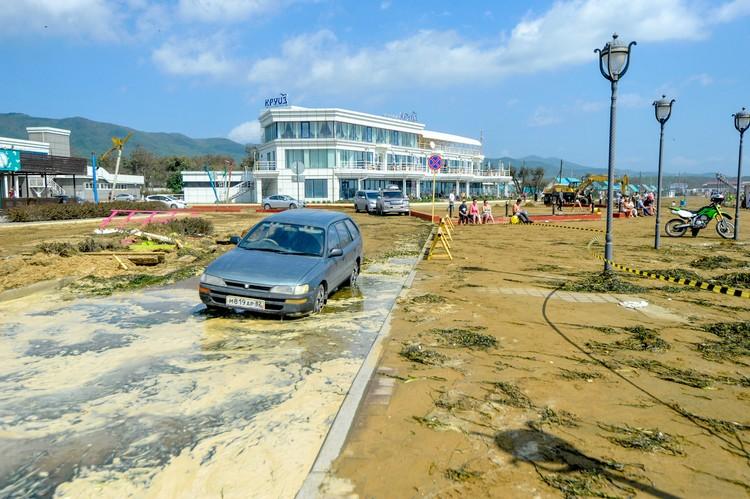 Последствия урагана на Шаморе