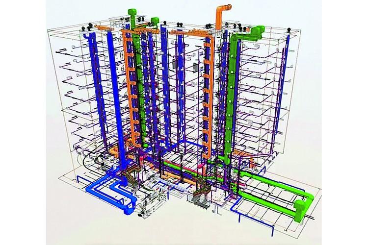 """Инженерные системы BIM-модели проекта. Фото: ИД """"Строительный Эксперт"""""""