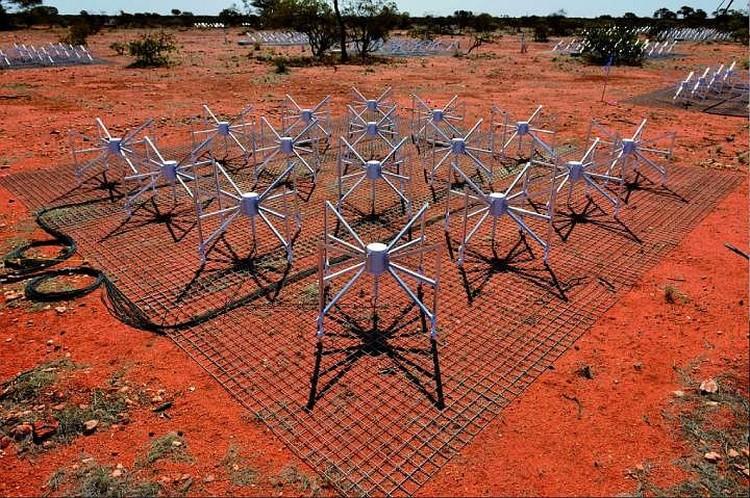 Антенное поле австралийского радиотелескопа. Фото: www.mwatelescope.org