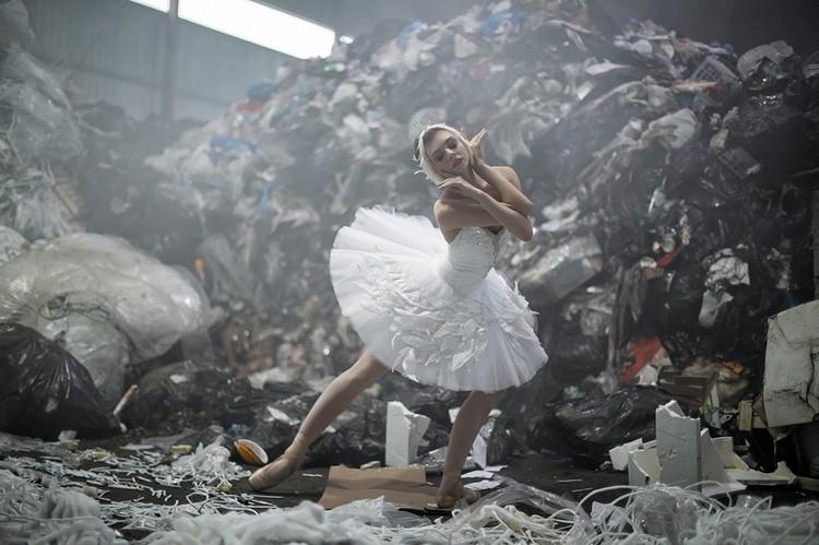 Белый лебедь, артистка Оксана Бондарева. Фото предоставлено Марией Рылеевой-Коган