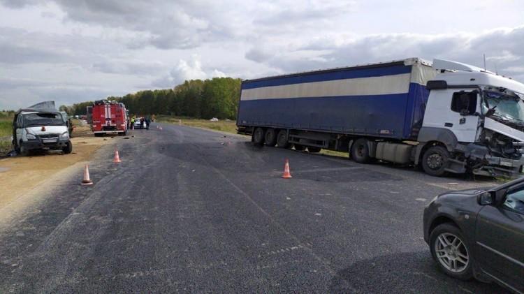 Предварительно: авария унесла жизни двух дорожных рабочих. Фото: ГИБДД 24.