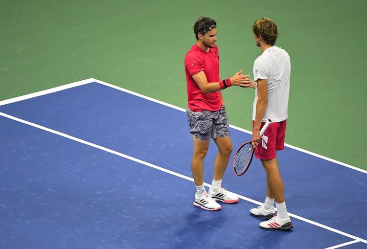 В финале US Open австриец Доминик Тим обыграл Александра Зверева из Германии