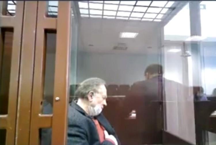 Доцент заявил, что ему плохо Фото: трансляция Санкт-Петербургского суда