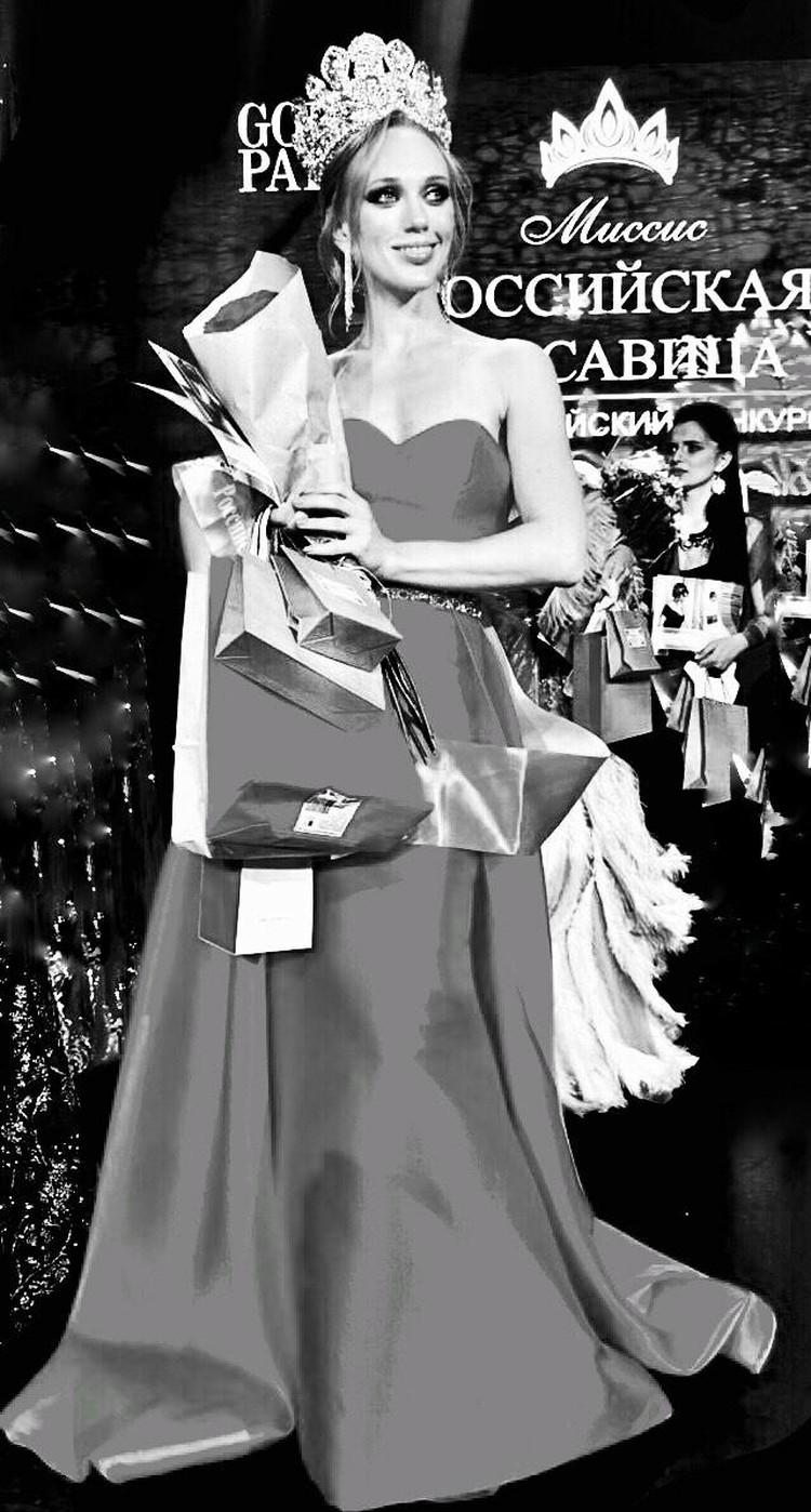 Ирина на конкурсе красоты