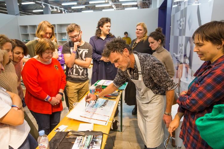 Участники фестиваля научатся не просто рисовать, а создавать целые произведения под руководством профессиональных художников. Фото предоставлено Академией Art Life.