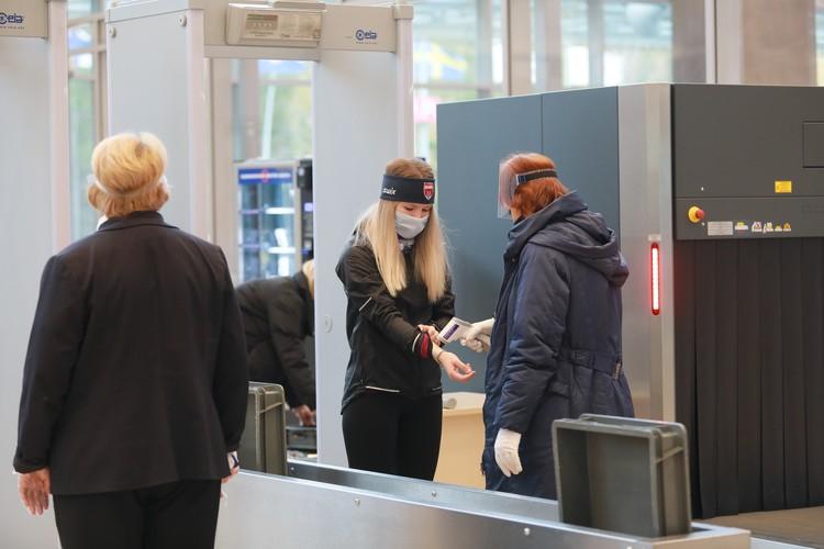 На входе участников досматривали. как обычных пассажиров.