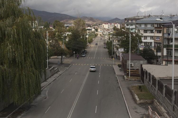 Дорога в Степанакерте