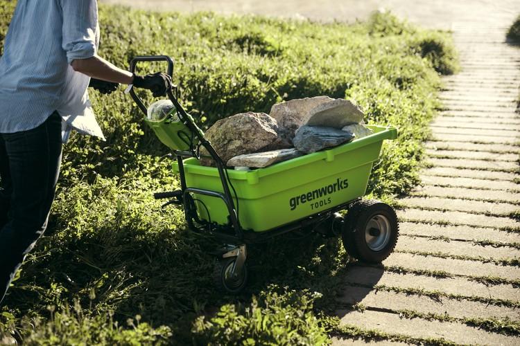 Садовая самоходная тележка Greenworks G40GC
