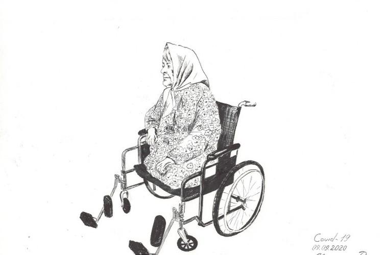 Одна из пациенток ковидария. ФОТО: из личного архива Руслана Меллина