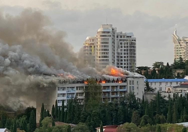 Санаторий принадлежит Министерству обороны РФ. Фото предоставлено очевидцами.
