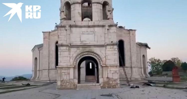 Спустя несколько часов пришла информация, что нанесен повторный удар по собору Святого Христа Всеспасителя.