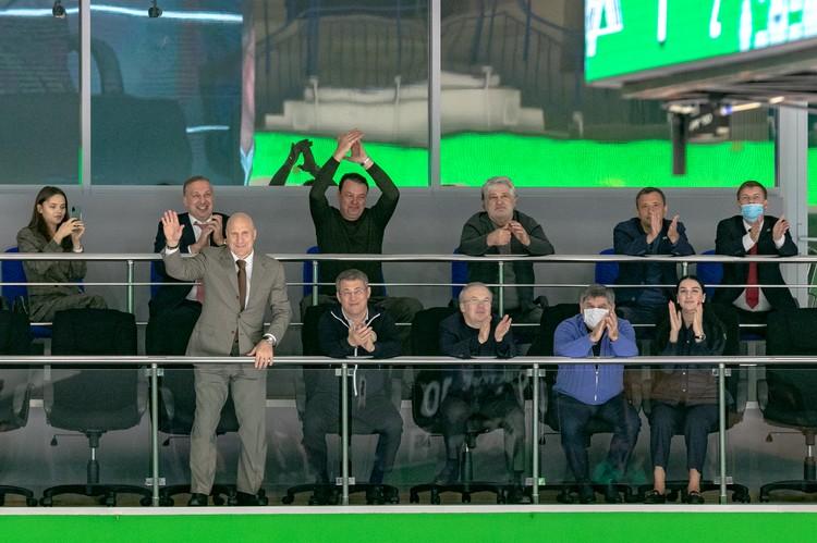 Среди важных гостей матча был глава федерации спортивной борьбы России Михаил Мамиашвили