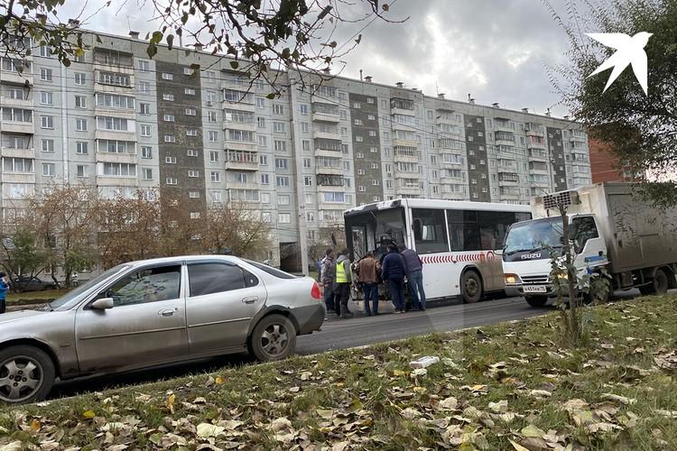 Пострадали водитель автобуса и пассажиры