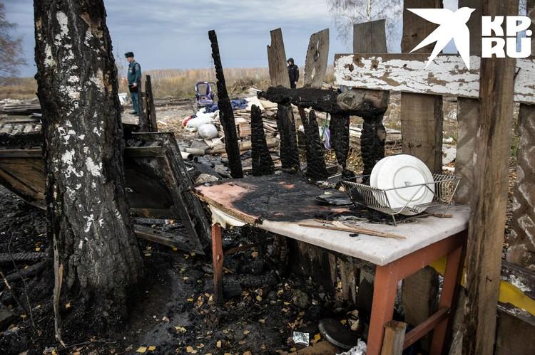 Родители увидели, что дом горит и убежали.