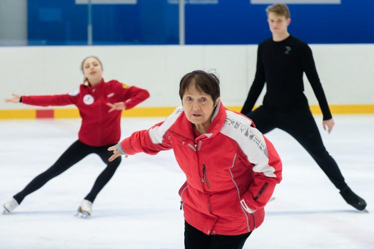 Пара Бойкова-Козловский тренируется у Тамары Москвиной