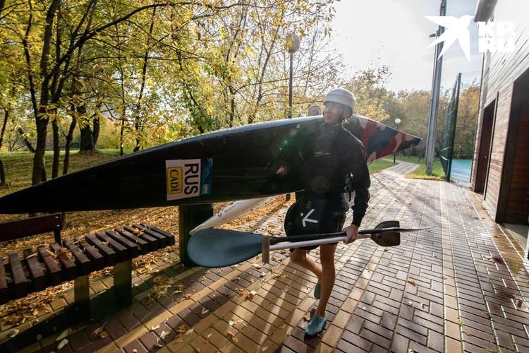 Участница сборной России Екатерина Перова в гребном слаломе почти 20 лет