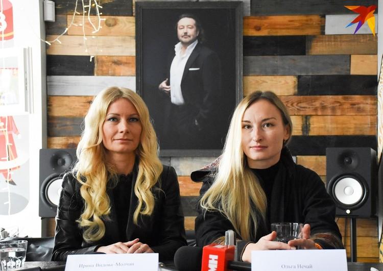 Певица Ирина Видова-Молчан и скульптор Ольга Нечай.