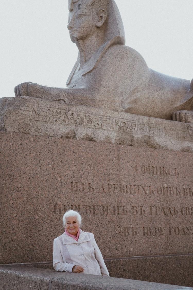 Ольга Ивановна отправилась на Васильевский остров. Фото: Ольга Проскурина