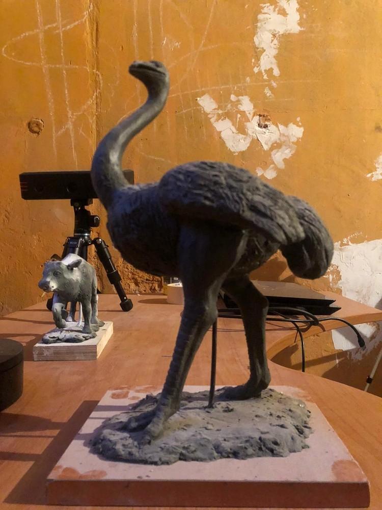 Гигантский страус. Фото: Tavrida cave/Пещера Таврида/VK